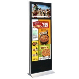 Dual-screen 55inch + 32inch LCD digital signage