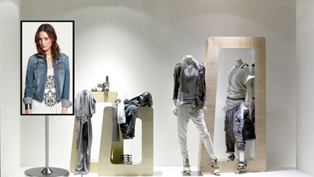 fashion store LCD display